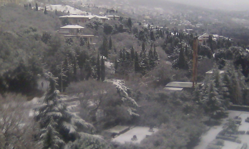 Алупка в снегу