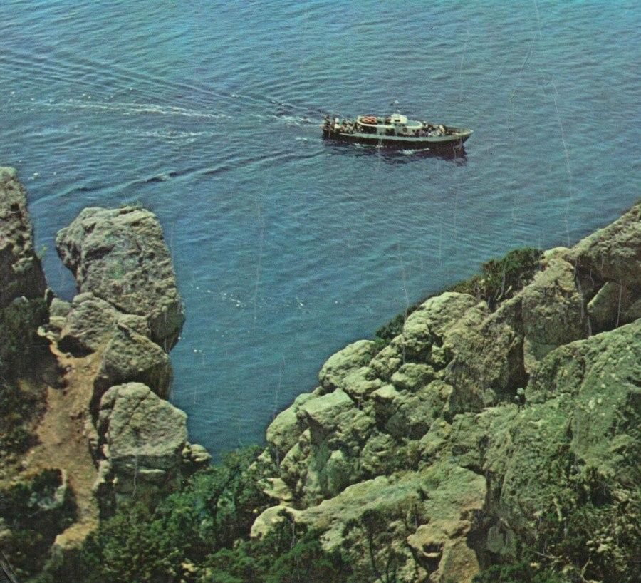 Алупка в 80-е годы XX века: вид на море