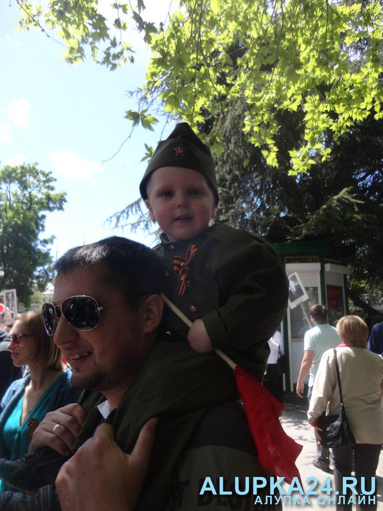 на Параде Победы в Ялте