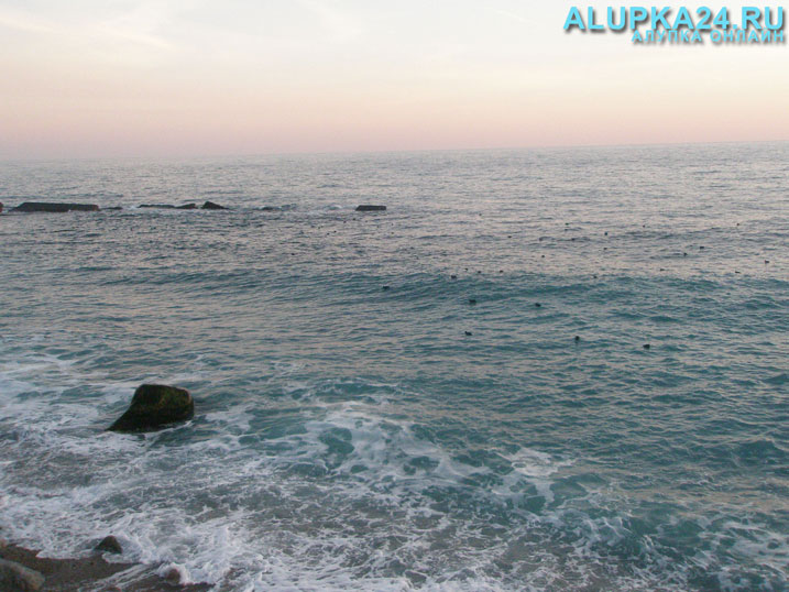 Вид на море с пляжа