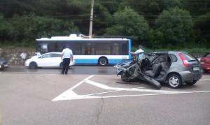 В ДТП в Массандре пострадали двое водителей