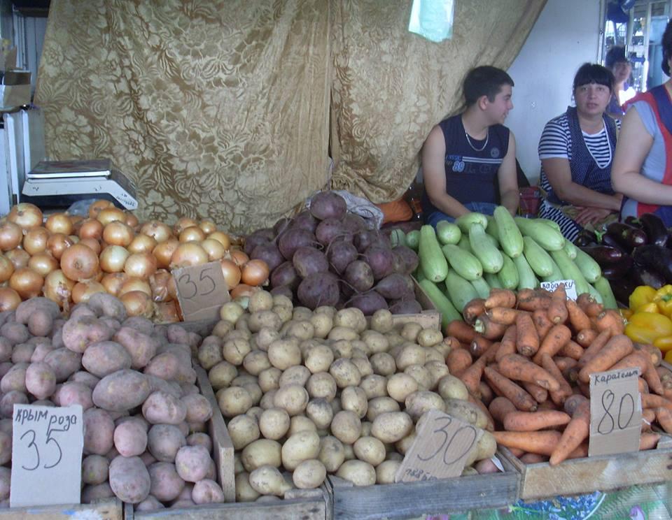 Цены в Ялте на овощи