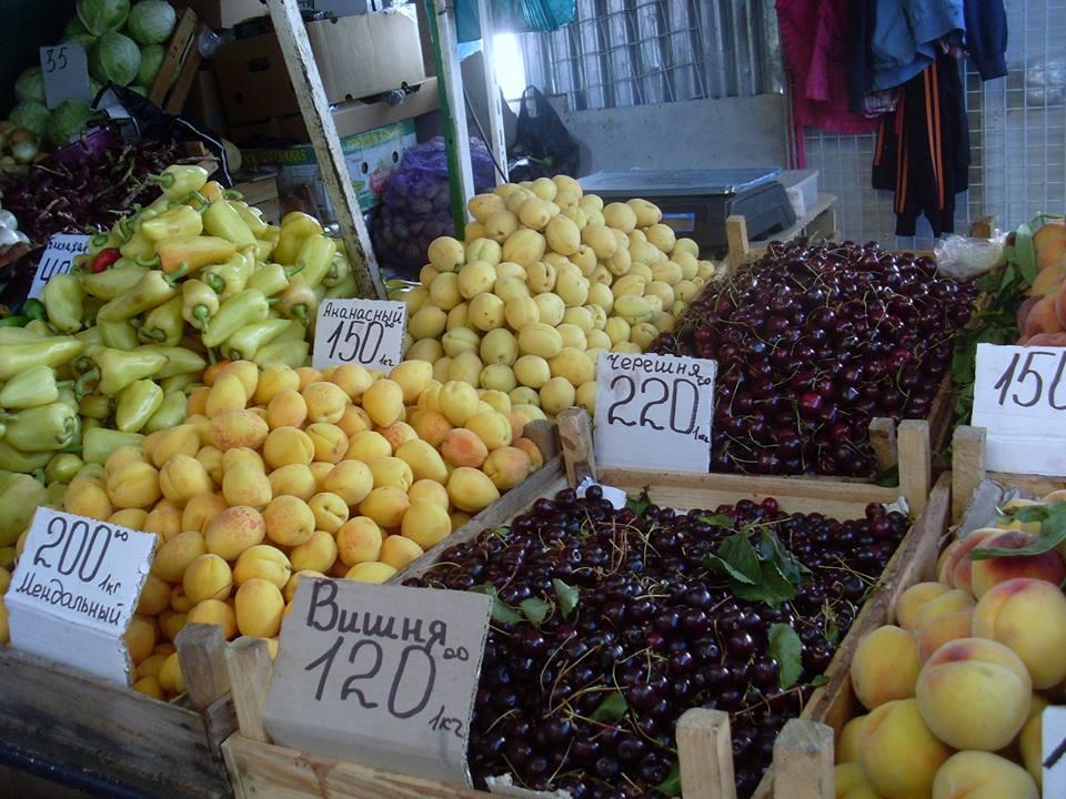 Цены на фрукты в Ялте