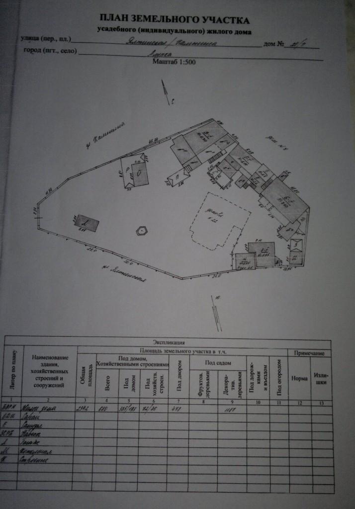 Общий план двора