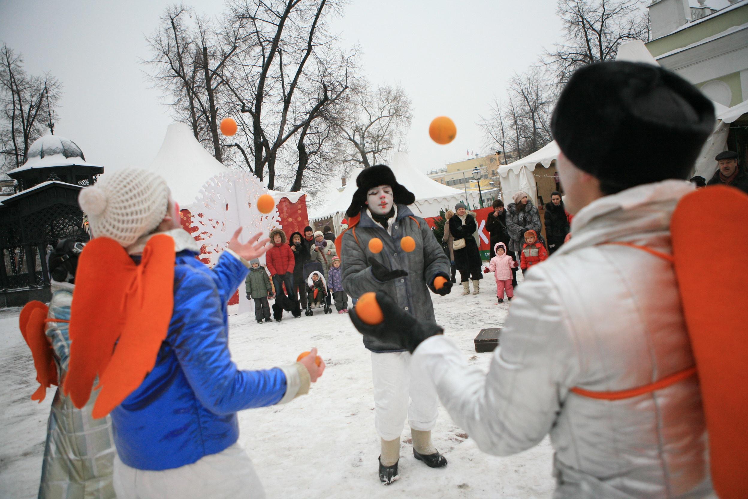 Спортивное развлечение на новый год