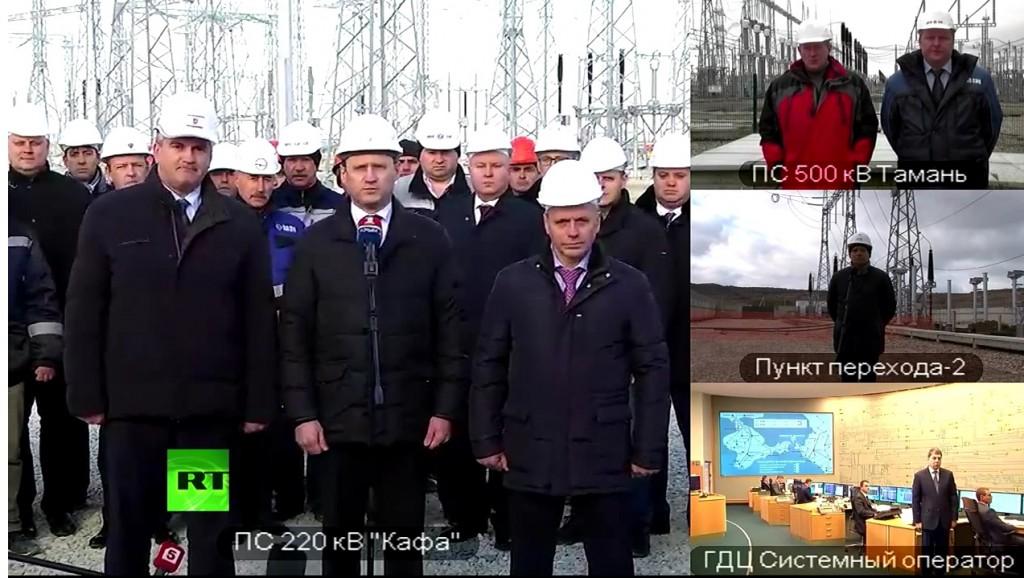 В Крыму запустили вторую нитку энергомоста (видео)