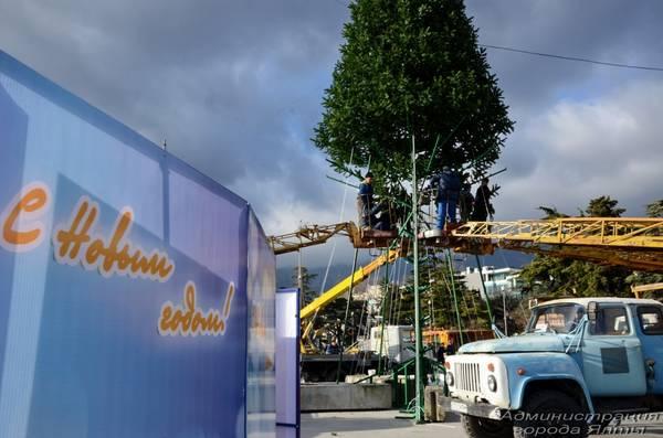 В Ялте установят две новогодних ёлки