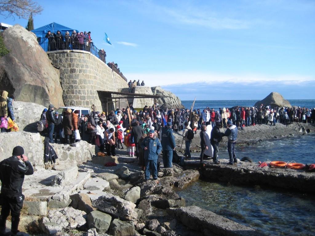Праздник Крещения в Алупке 6
