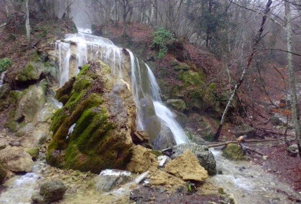 Последствия морозов для водопада «Серебряные струи»