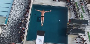 Видео прыжка в Ялте на презентации Кубка по хай-дайвингу