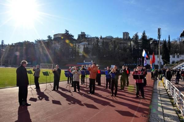 Спортивный праздник в Ялте на День защитника Отечества