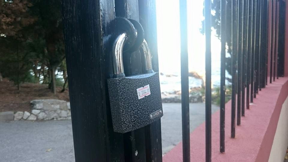 В Симеизе снова закрыли на замок пляж «Башмак»