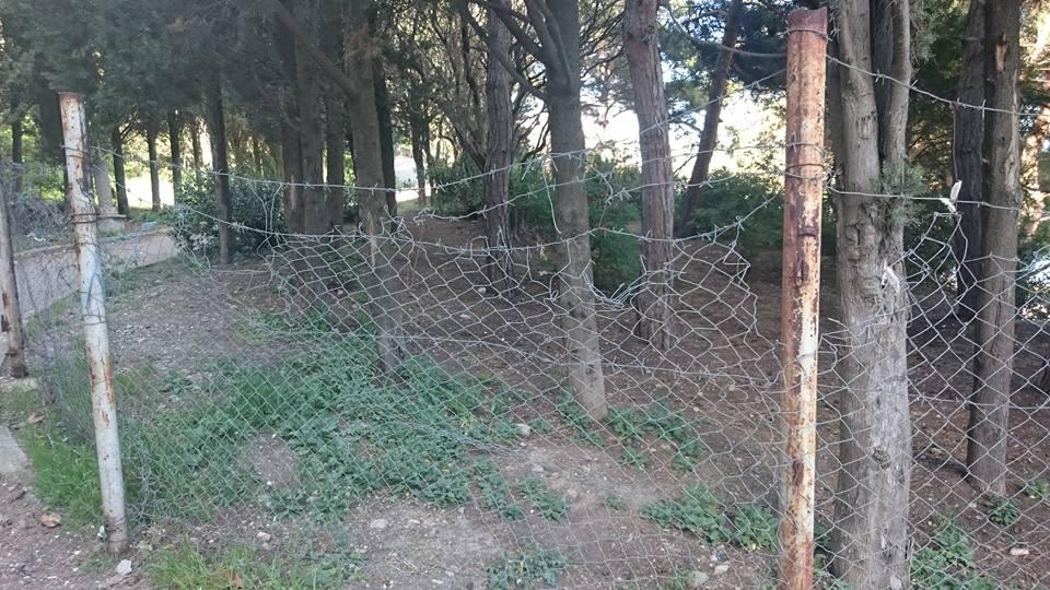 Забор вокруг пляжа