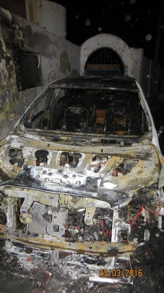 В ночь на 3 марта в Алупке сожгли два автомобиля 2