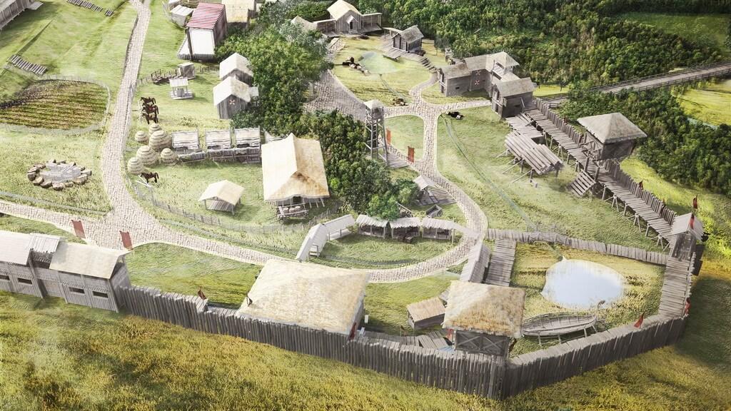 Главная площадь викингов