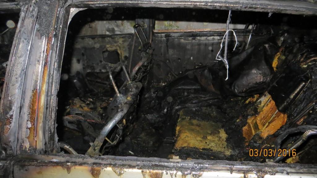В ночь на 3 марта в Алупке сожгли два автомобиля
