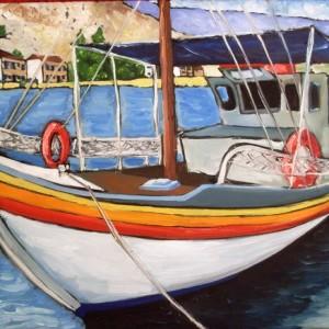 Поездка на лодках у берегов Греции
