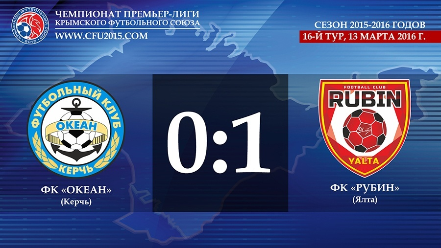 Ялтинский «Рубин» обыграл керченский «Океан» в 16-м туре Премьер-Лиги КФС