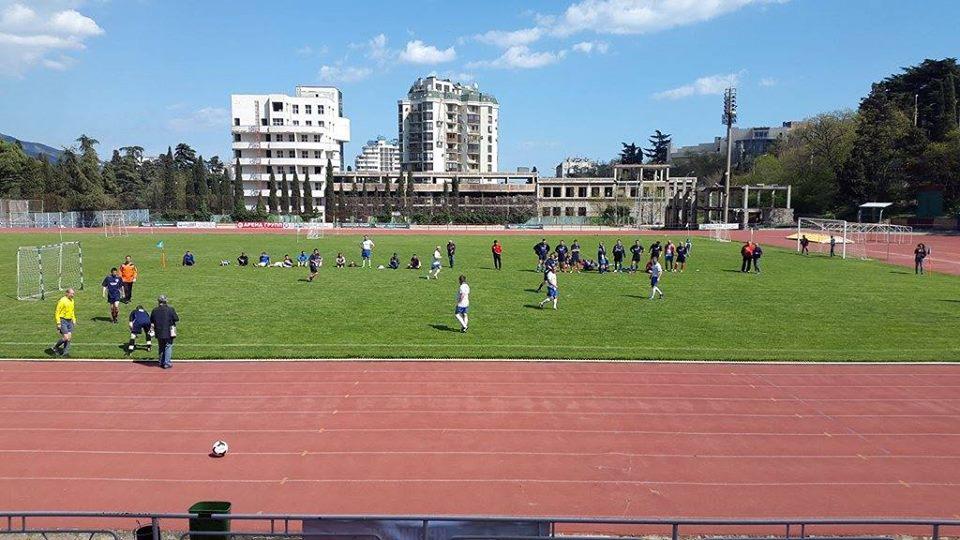 Матч на стадионе