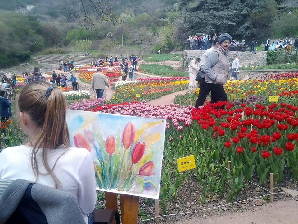 Парад тюльпанов в НБС 2016