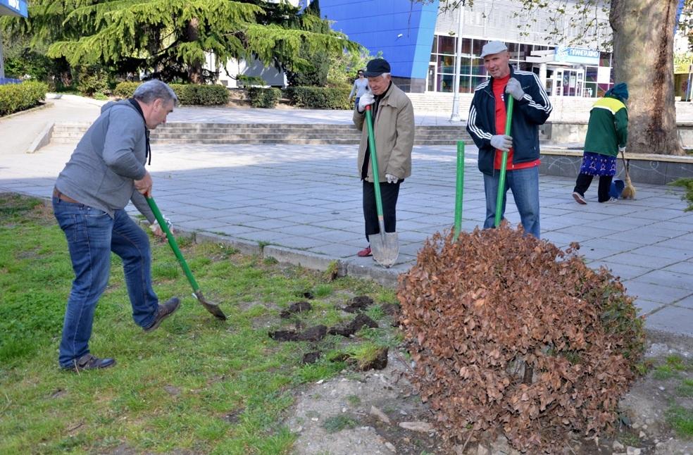 В Ялте высадили более тысячи кустов роз и можжевельника