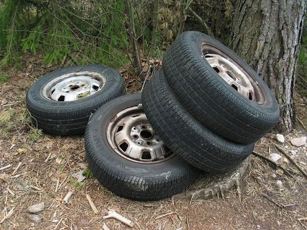 В Большой Ялте за выброс старых шин назначат штраф