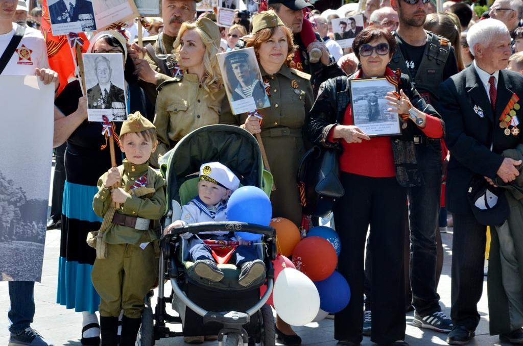 Участники Бессмертного полка в Ялте 2016 10