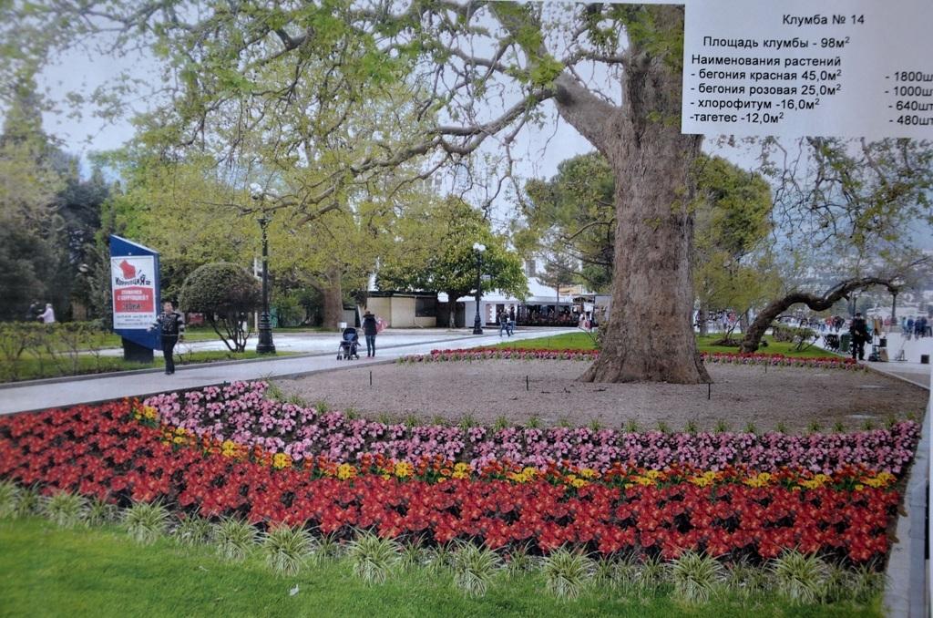 Большую Ялту озеленят цветочными клумбами
