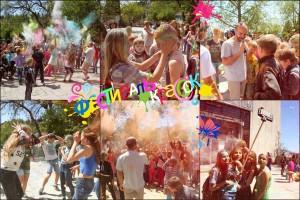 В Алупке провели фестиваль красок