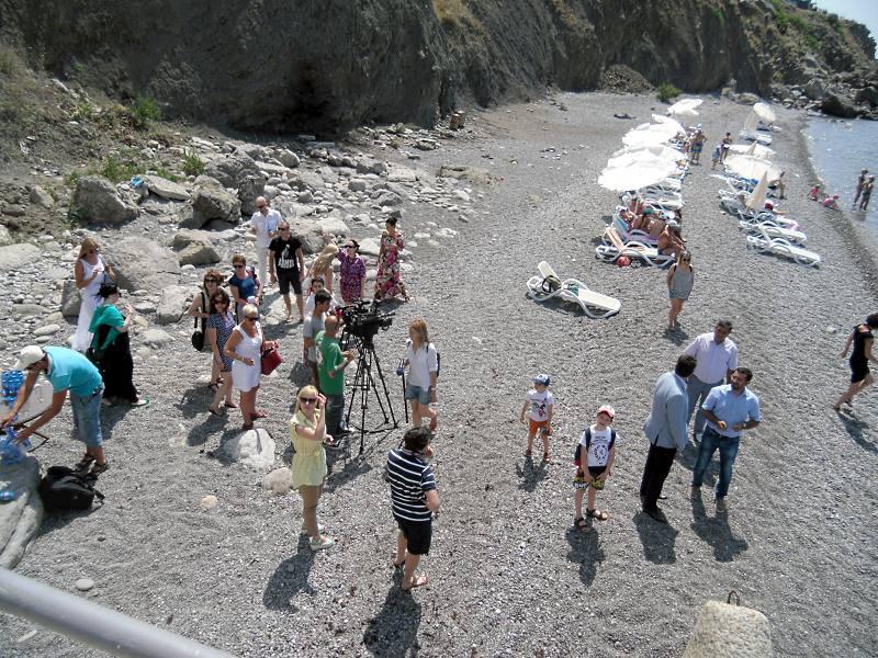 В Симеизе открыли новый общественный пляж