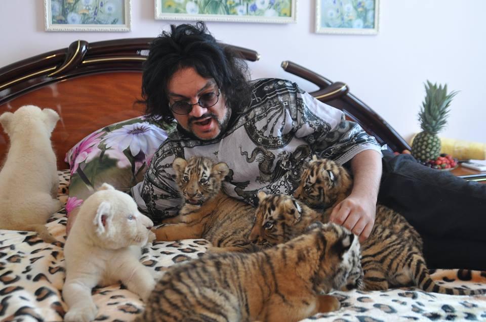 Филипп Киркоров с тигрятами и львятами