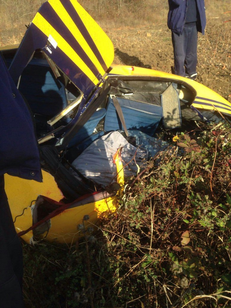 В Малом Маяке упал вертолёт 2