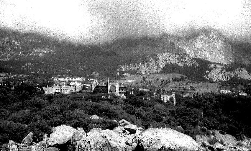 Старые фото Воронцовского дворца в Алупке