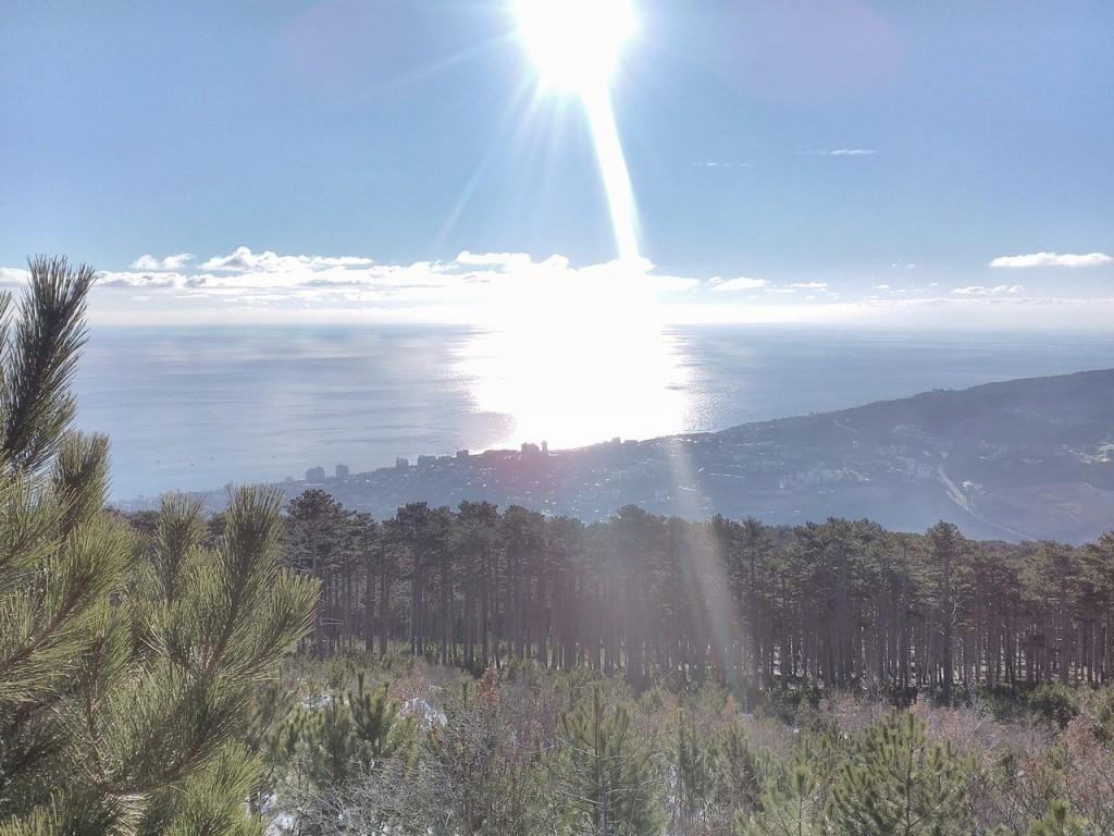 Вид на Алупку в декабре 2016 года