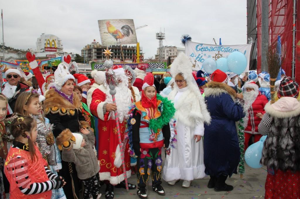 Мороз-парад в Ялте 2016