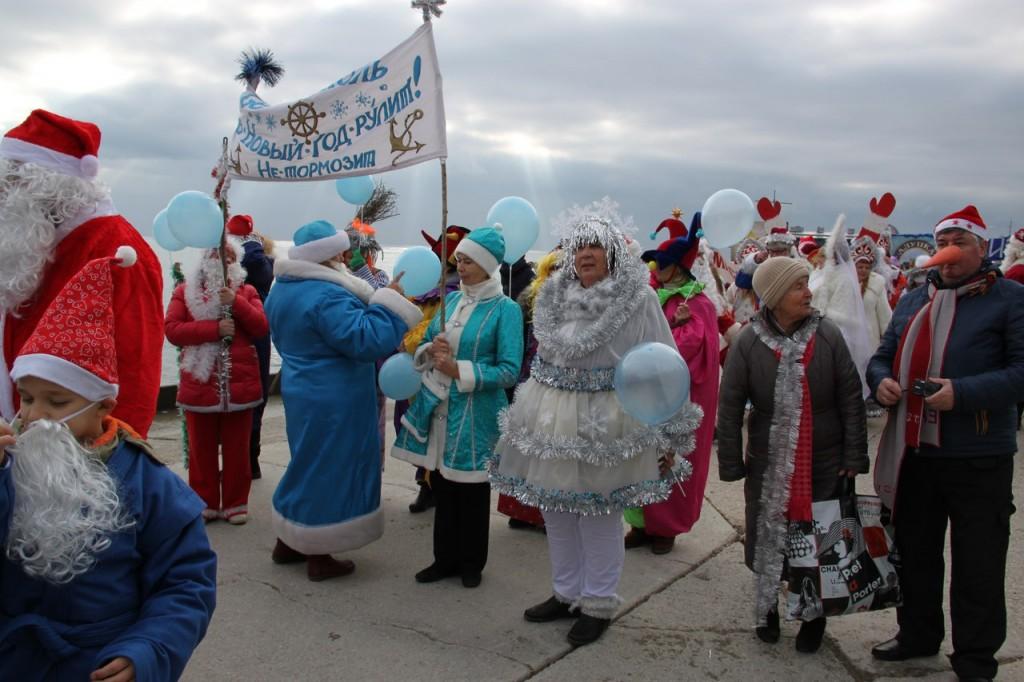 Седьмой ежегодный Мороз-парад в Ялте 2016