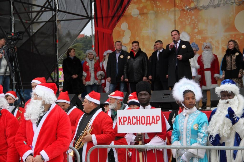 Команда из Краснодара на Мороз-параде в Ялте