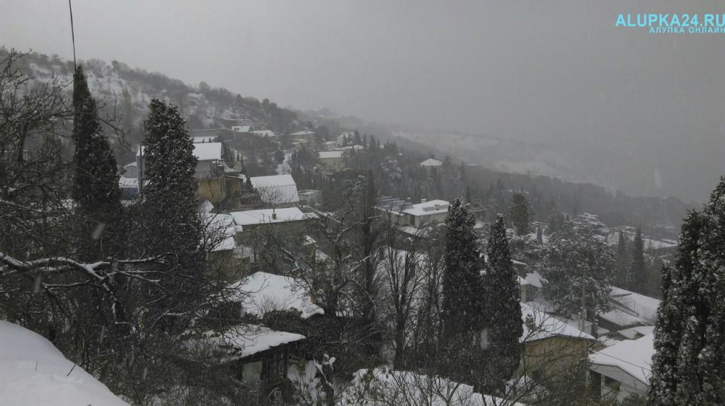 Фото Алупка в снегу