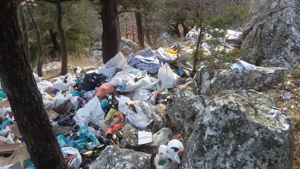 В Большой Ялте Царская тропа остаётся завалена мусором (Фото: Евгений Жуков) 2