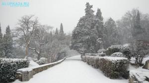 Воронцовский парк в снегу