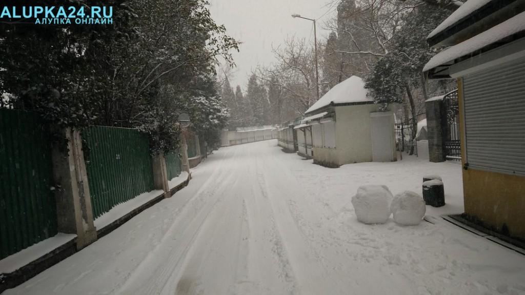 Воронцовский парк в снегу 4