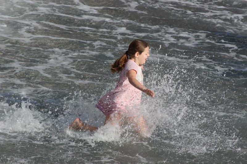Девочка на Крещении Господнем в Ялте 2017