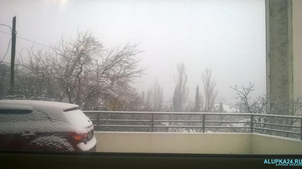 Ялта в снегу
