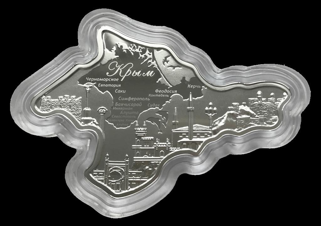 Генбанк начал продажи серебряной монеты в виде Крыма