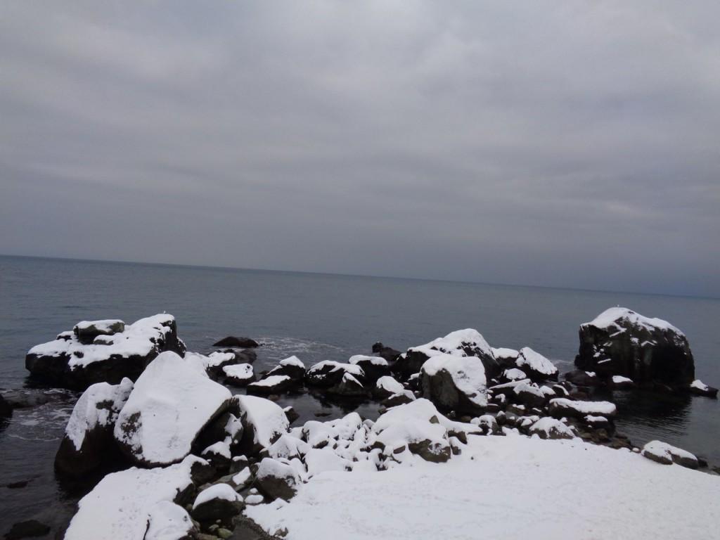 Побережье Алупки в снегу (Фото: Наталья Махинько)