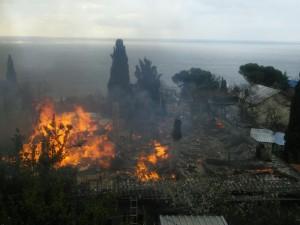 Пожар в Алупке 20.03.17
