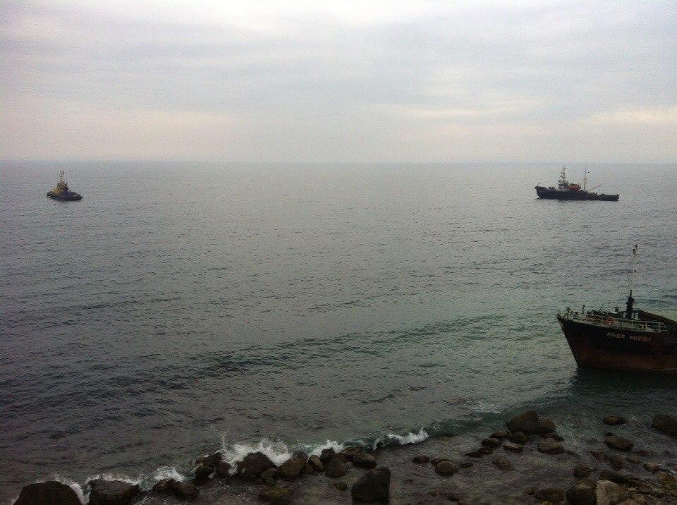Вблизи Алупки село намель турецкое судно RIVER EREGLI