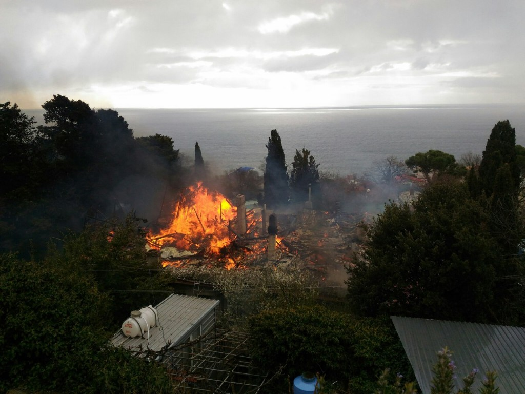 Пожар в Алупке 20.03.17 2