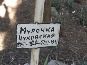 Могила Мурочки Чуковской в Алупке: история