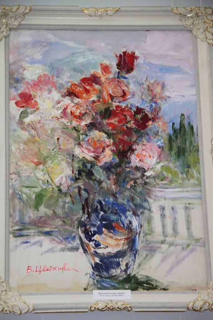 В Алупке состоялась выставка Валентины Цветковой 7